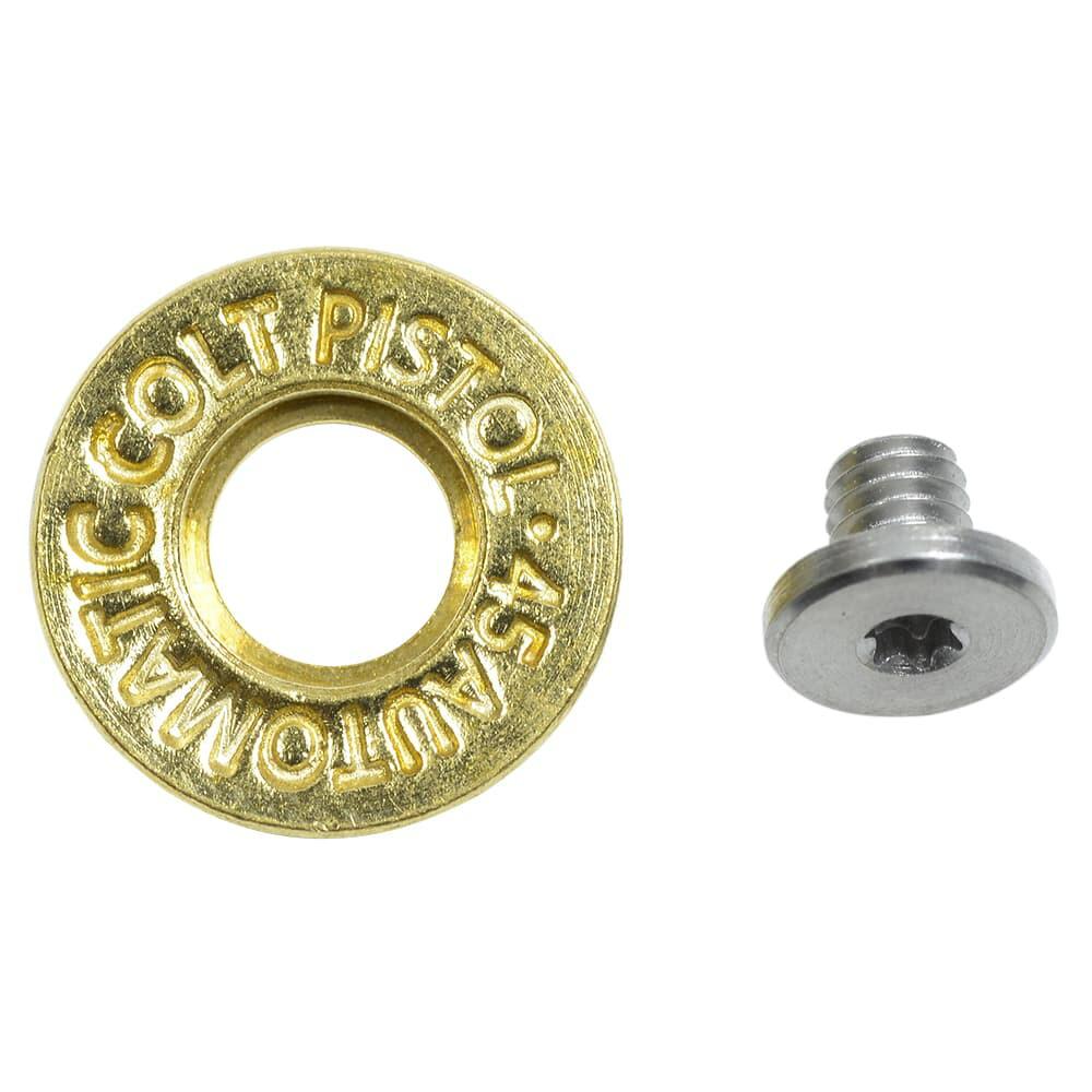 ワッシャー 真鍮製 弾丸刻印入り トルクスネジ付属 ハンドクラフト材