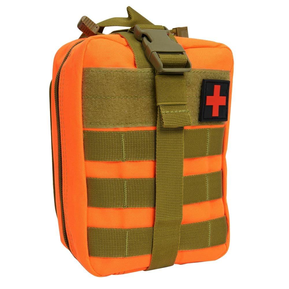 メディックポーチ MOLLE対応 IFAK 応急処置 パッチ付き レスキューオレンジ