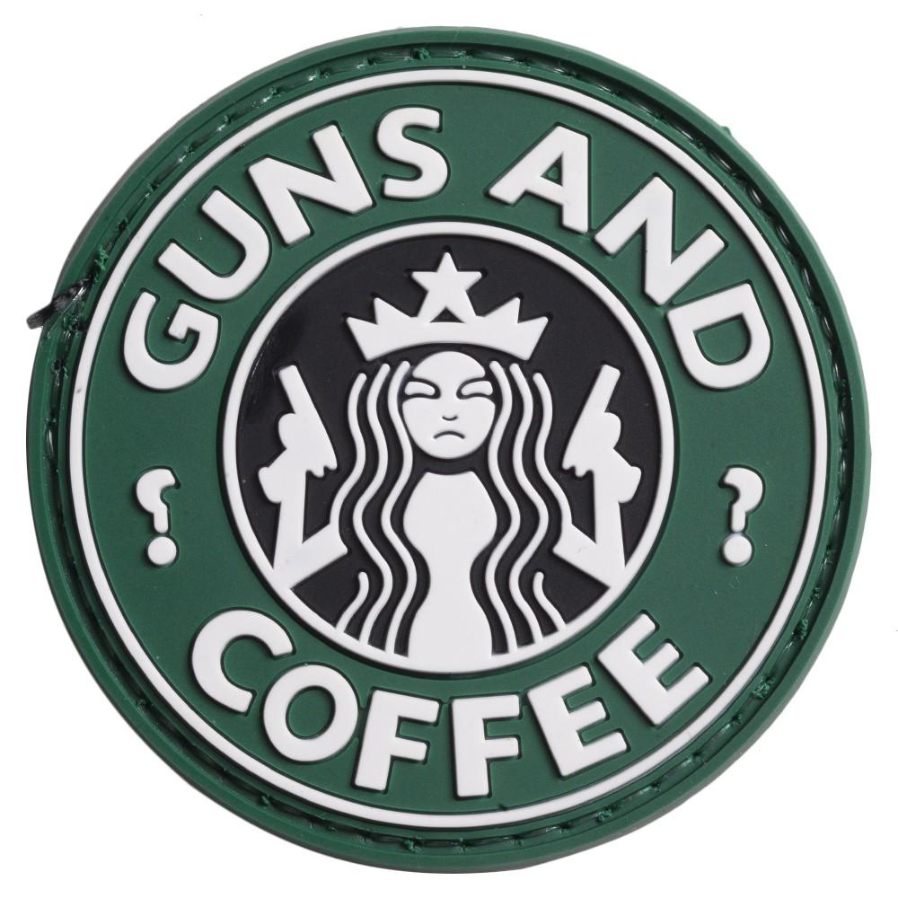 FIVE STAR GEAR ミリタリーワッペン GUNS AND COFFEE ベルクロ