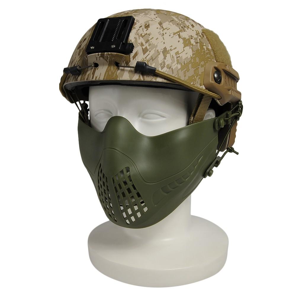 ハーフフェイスガード PILOT MASK ヘルメット装着アダプター付