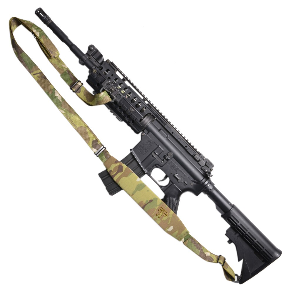 Polyester Black Rifle Leather Ends Sling Shotgun Air Gun Strap Hunting Shooting