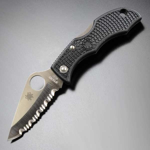 SPYDERCO 折りたたみナイフ LBKS3 てんとう虫 波刃