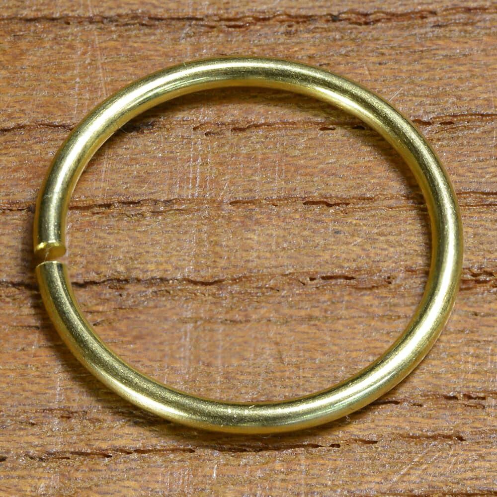 丸カン クラフトパーツ 真鍮 24mm