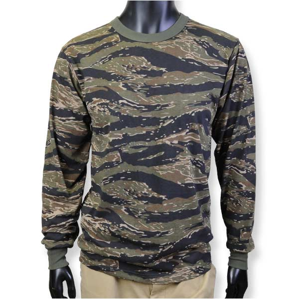 763fc01a [Rothco T-shirt long sleeves Tigers tripe duck 66787 [small size]].  RothcoTシャツ長袖タイガーストライプカモ66787