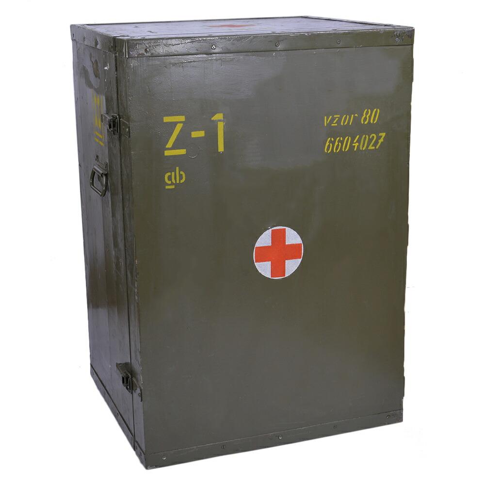 チェコ軍放出品 メディカルボックス 木製