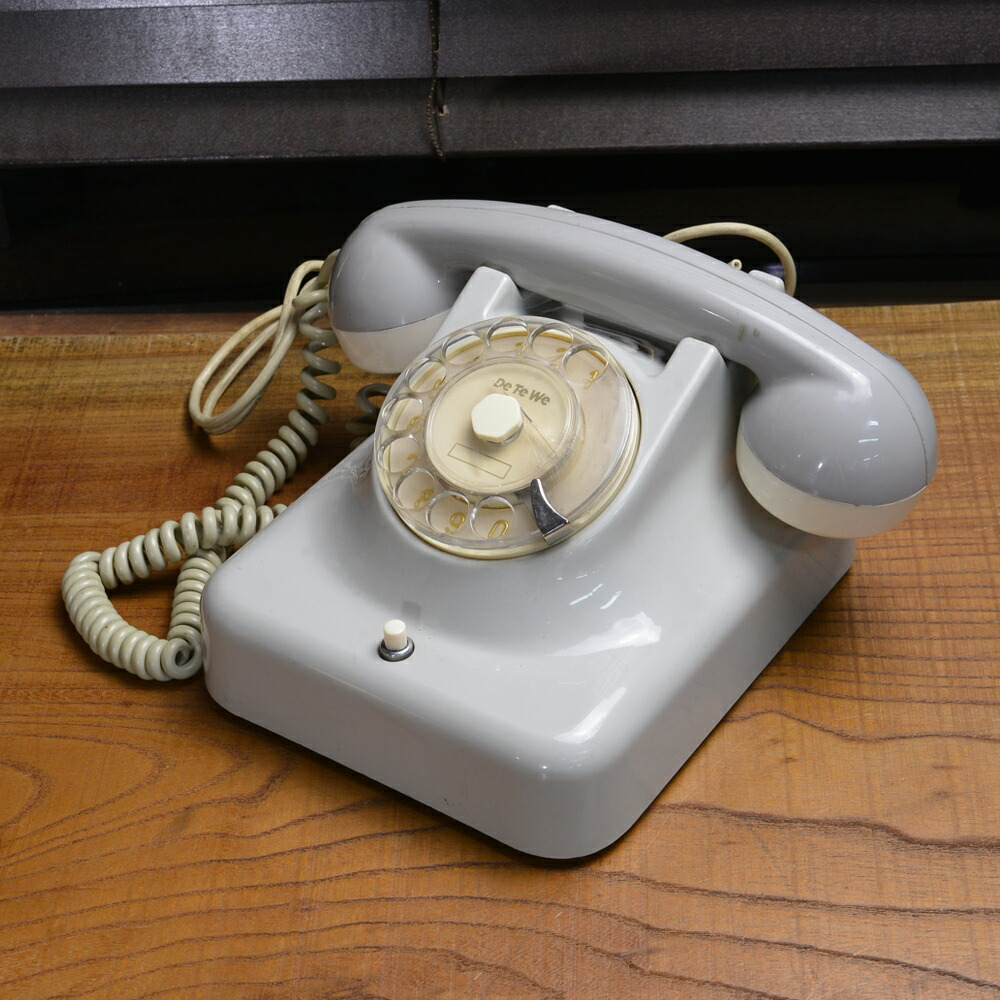 西ドイツ製 ダイヤル式電話 DeTeWe レトロ雑貨