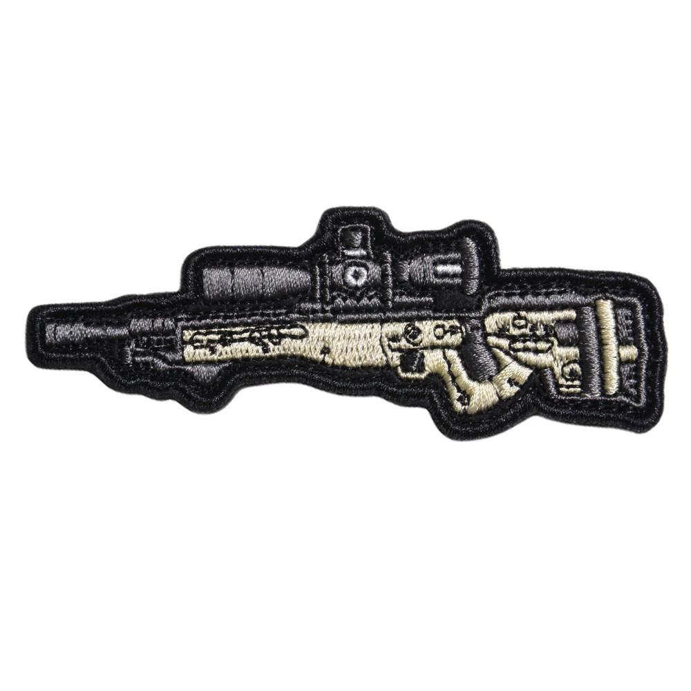 ミリタリーワッペン AE MK2 ライフル 刺繍 ベルクロ