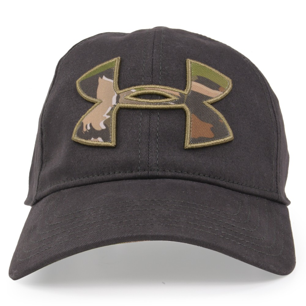 Under Armour camouflage logo cap 1282396-free fitting black Under Armour  duck Camo heat gear hat Free Fit baseball cap baseball cap men work cap hat  ... 832b93aedf6
