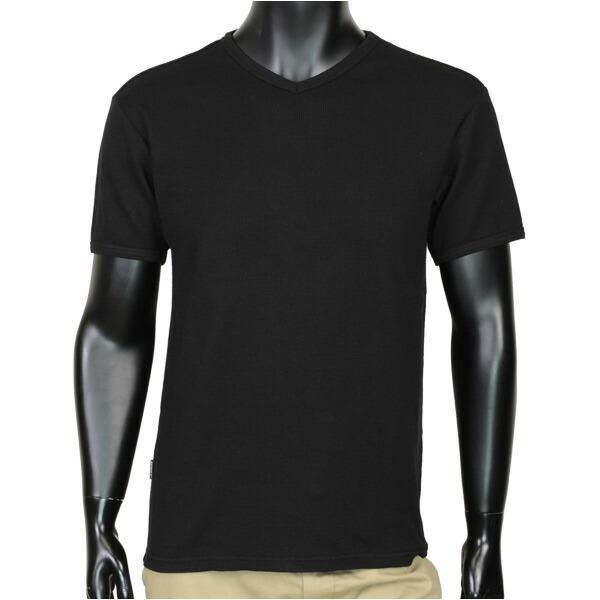 AVIREX Tシャツ 半袖 Vネック  ワッフル無地 デイリー