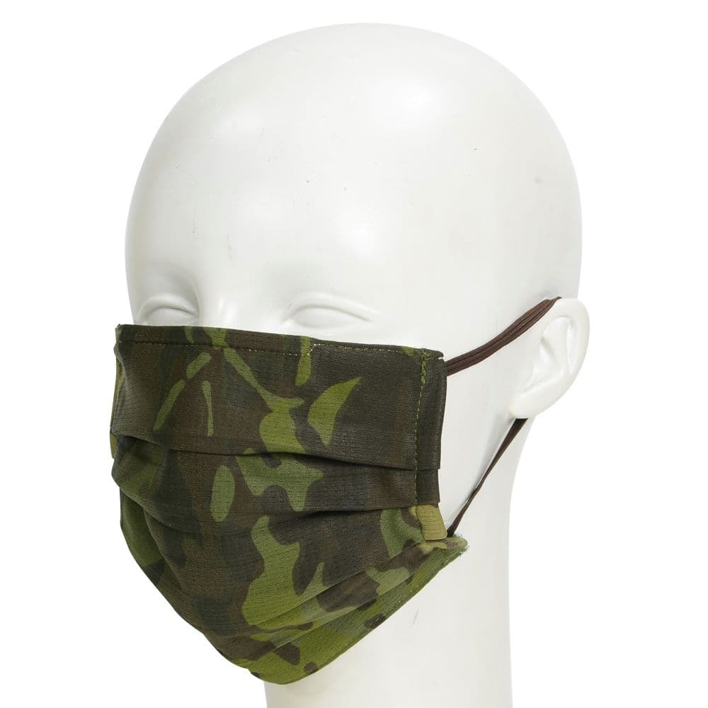 プリーツ型マスク 迷彩柄 アウトドア 調整可能イヤーループ 丸洗い可