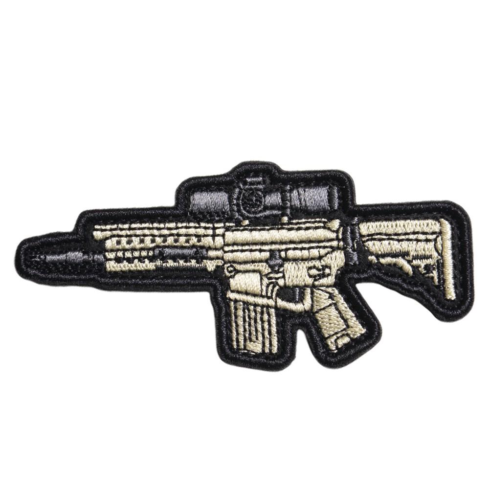 ミリタリーワッペン SR-25 ライフル 刺繍 ベルクロ