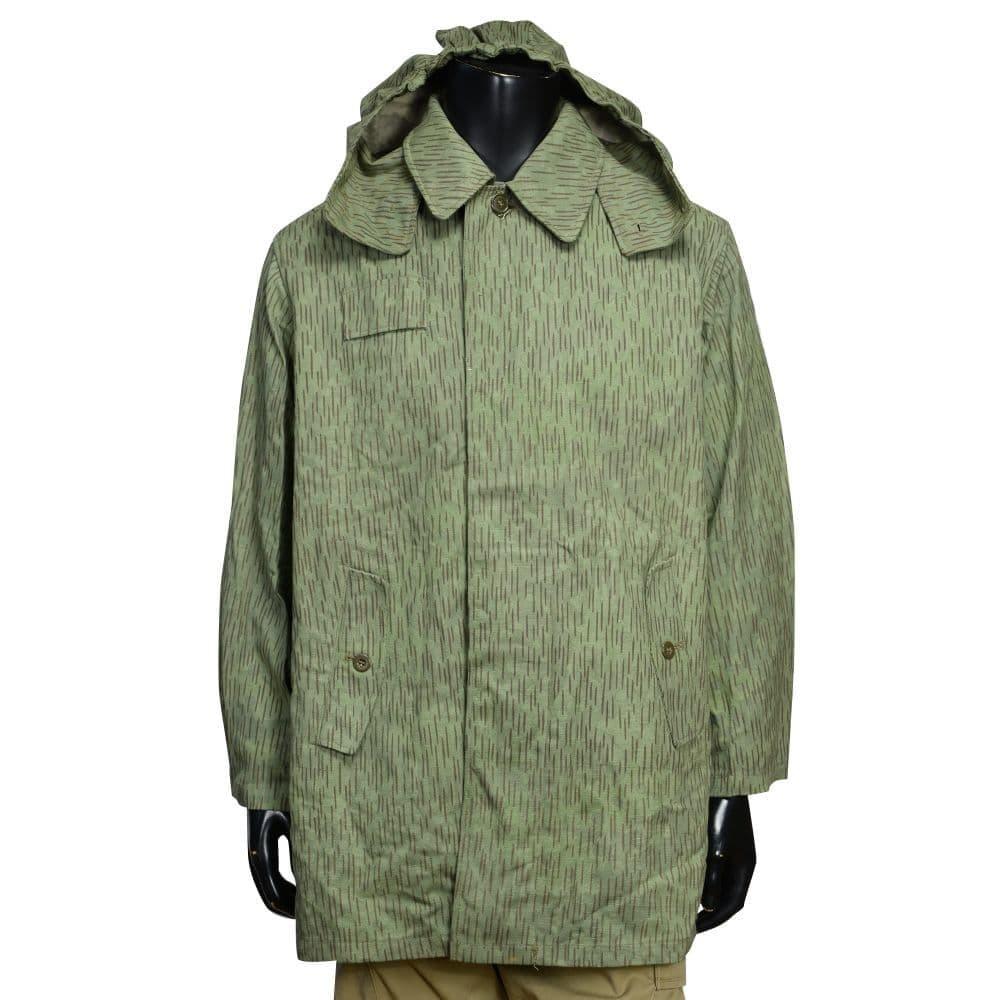 チェコ軍放出品 フィールドジャケット M60 レインドロップカモ コットン製 フード付き