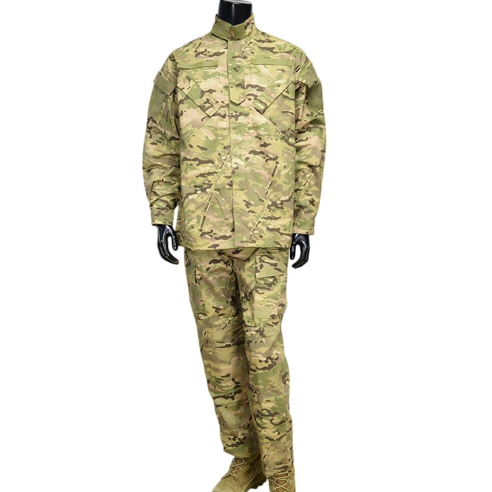 ウクライナ軍放出品 迷彩服 マルチカム BDU上下セット コンバットジャケット リップストップ生地