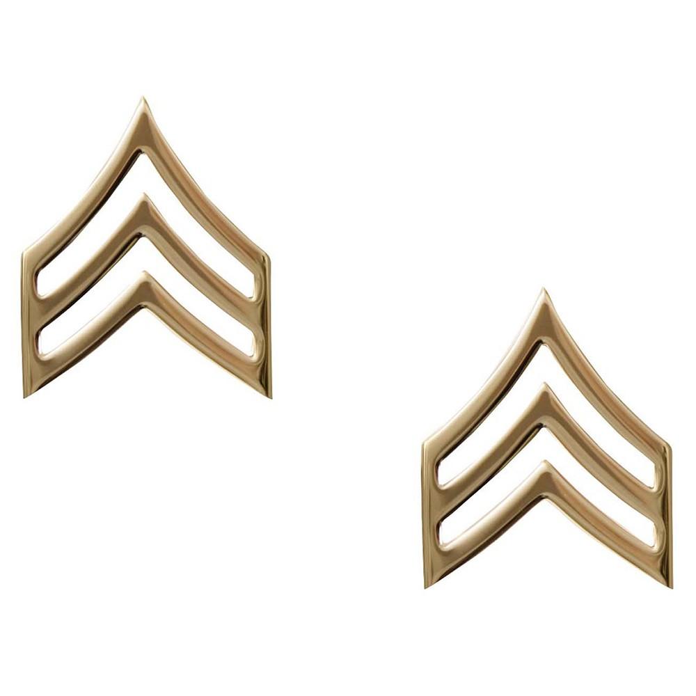 Rothco ピンバッジアメリカ陸軍 階級章 軍曹 2個入