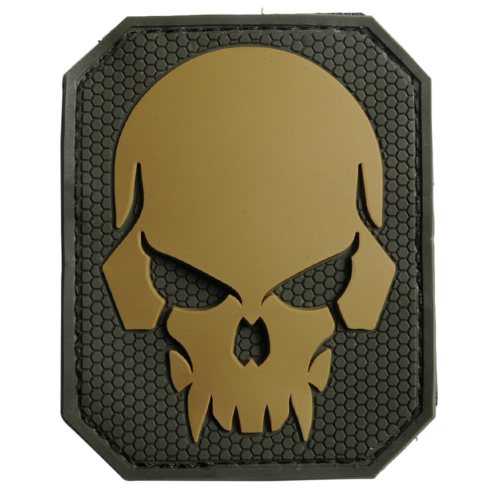 MIL-SPEC MONKEY パッチ Pirateskull ベルクロ PVC