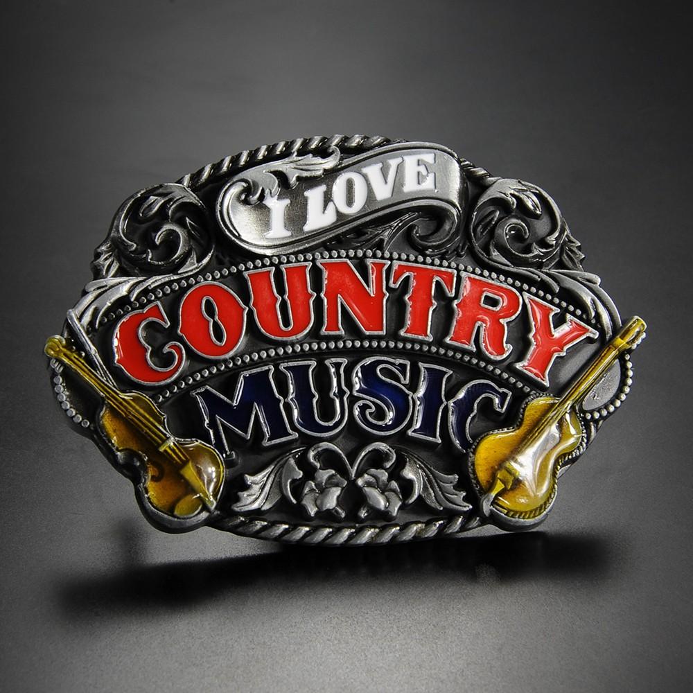 ベルトバックル I LOVE COUNTRY MUSIC