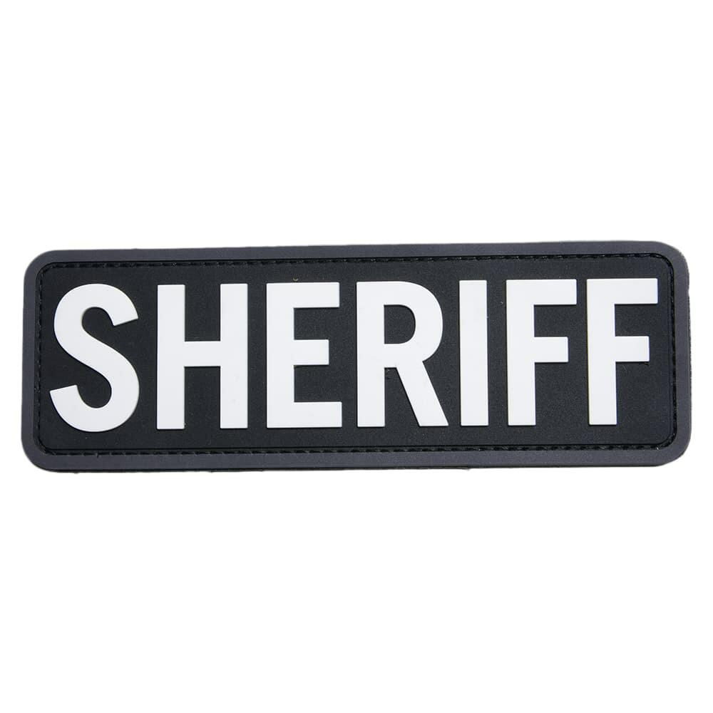 MIL-SPEC MONKEY パッチ SHERIFF ベルクロ付き PVC製 縁ありVer