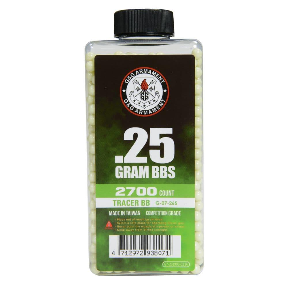 G&G トレーサーBB弾 0.25g グリーン 2700発入 Tracer BB G-07-265