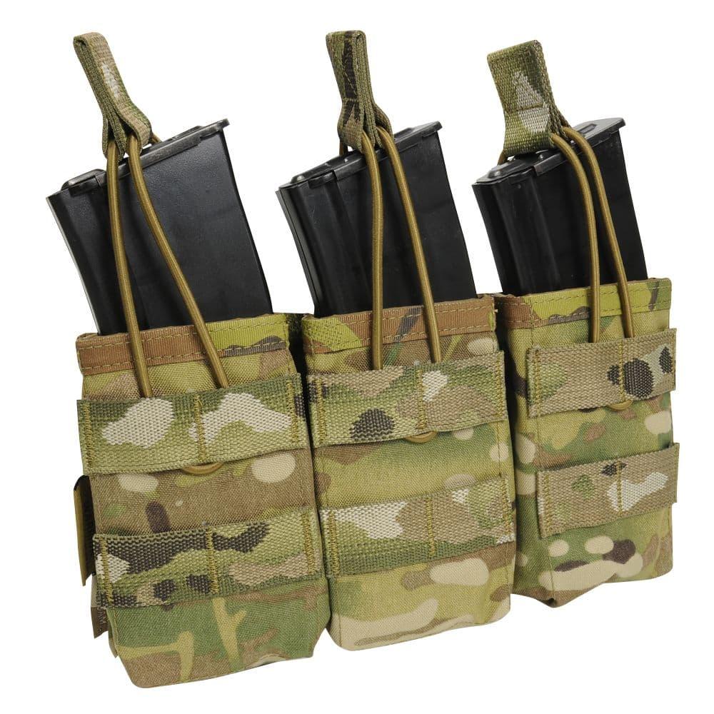 WARRIOR ASSAULT SYSTEMS 実物 トリプルマグポーチ 7.62mm弾マガジン用