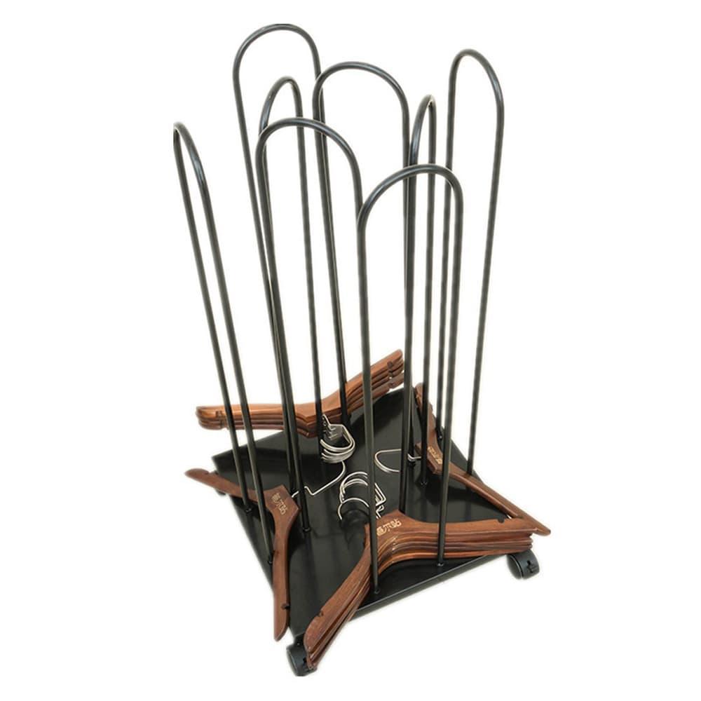ハンガー収納カート キャスター付き 組み立て式 ハンガーストッカー スチール製 店舗用品
