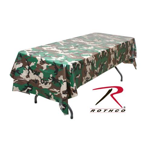 ROTHCO テーブル掛け ウッドランドカモ 137cm×274cm