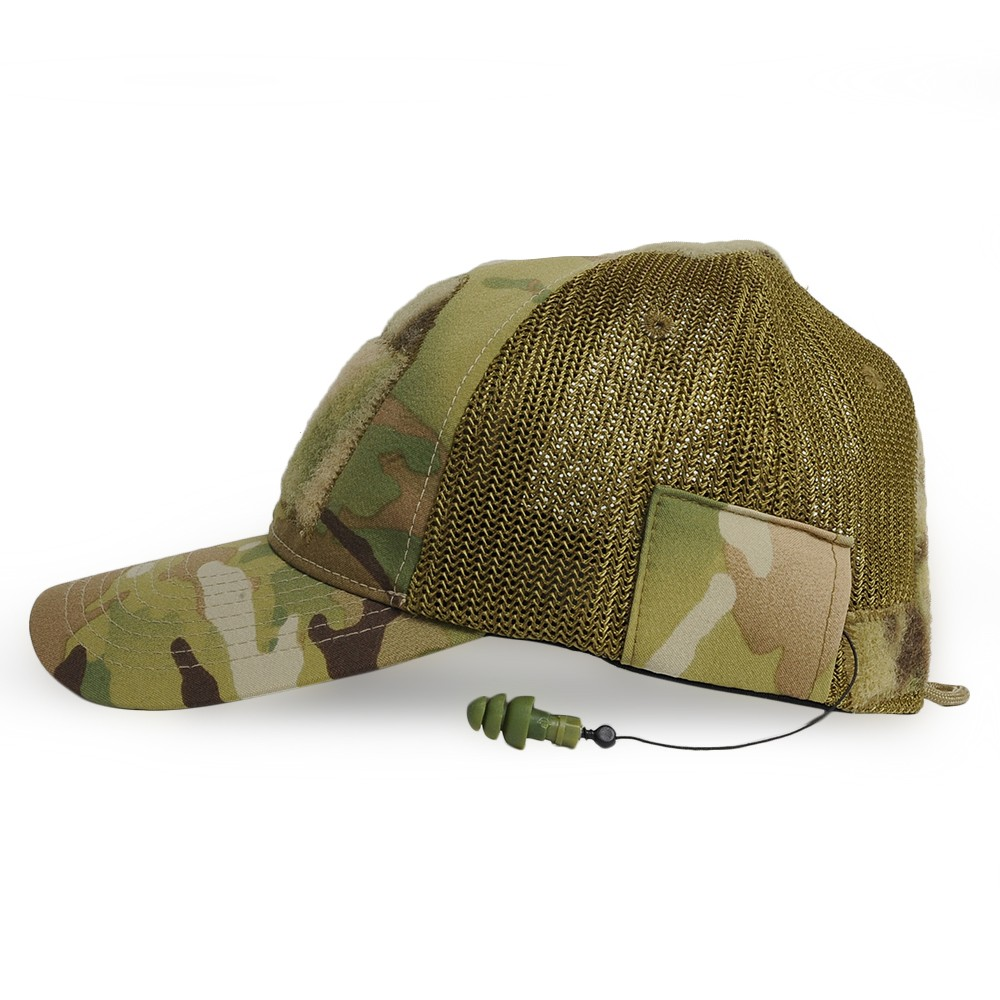 9cb09686c42e7   multi-cam   L XL size  with mil specifications monkey CG-HAT mesh cap  DLUX earplugs