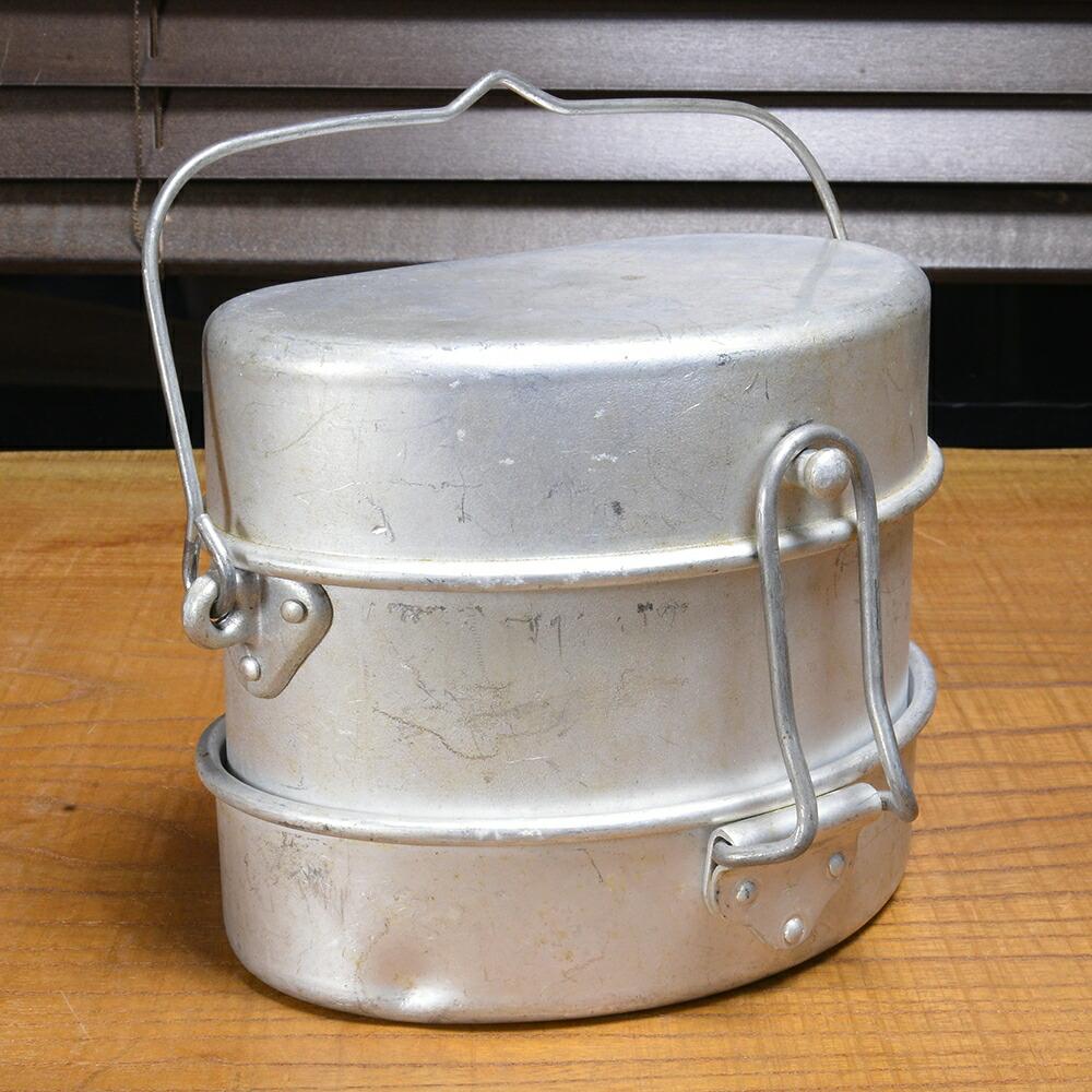 イタリア軍放出品 メスキット 飯盒 アルミ製 三段式
