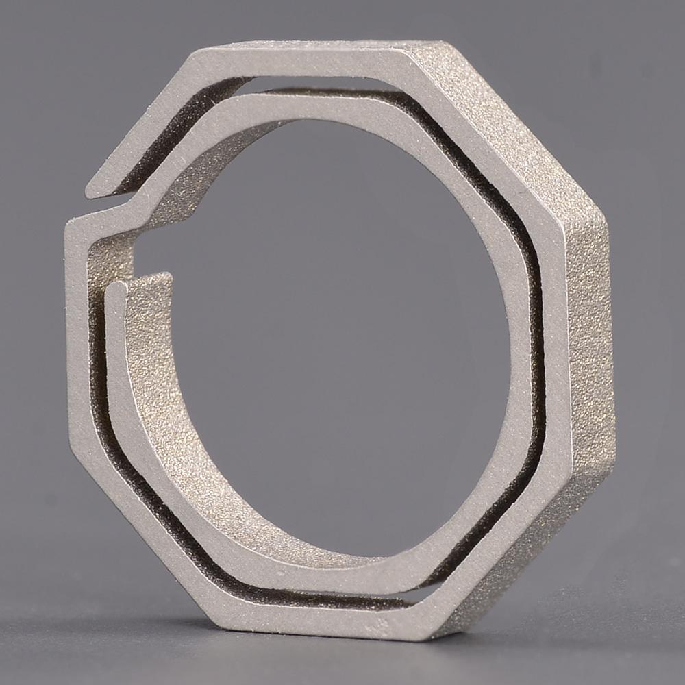 キーリング 八角形 チタン クイックドロー
