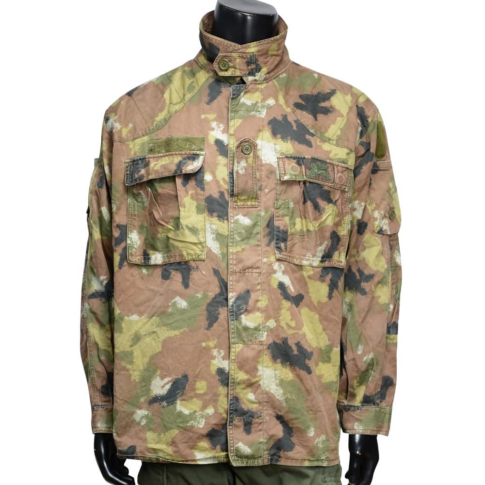 イタリア軍放出品 コンバットジャケット 海軍 サンマルコ迷彩 Cランク品