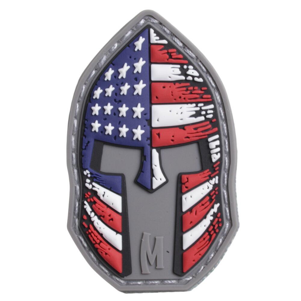 MAXPEDITION ミリタリーパッチ PVCゴム製 ヘルメット 星条旗 ベルクロ