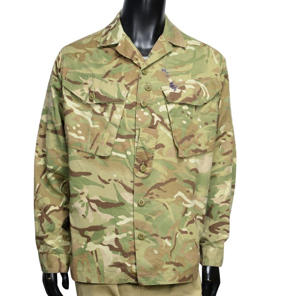 イギリス軍放出品 コンバットジャケット MTP迷彩 BDU ボタン留め