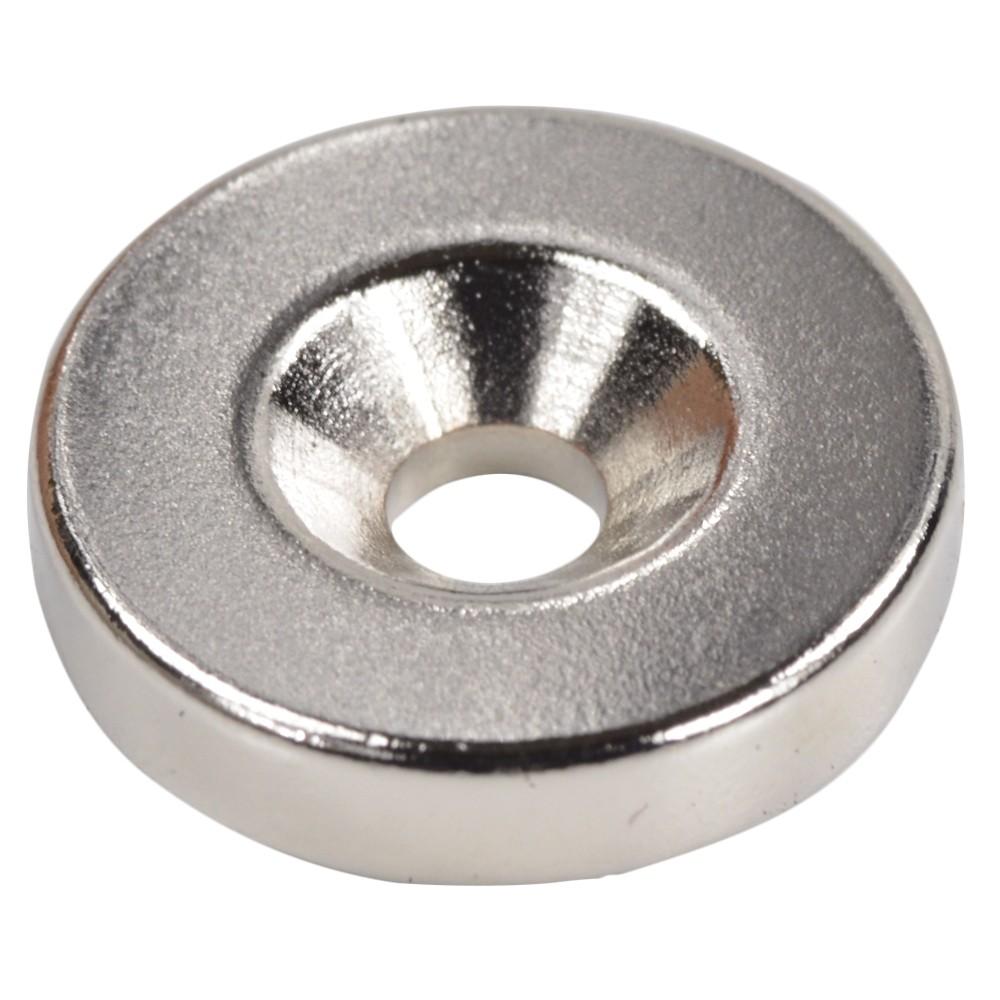 シルバーマグネット 丸型皿穴付き