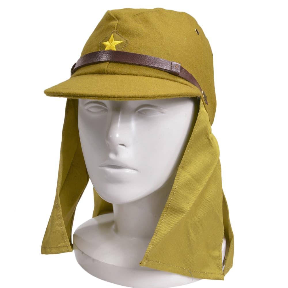 帽垂付き略帽 大日本帝国陸軍 軍帽 旧日本軍装備 帽子
