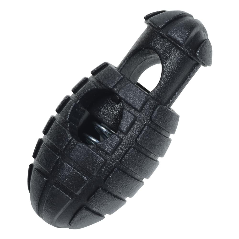 コードストッパー 手榴弾型 ハンドル無し コードロック 紐止め