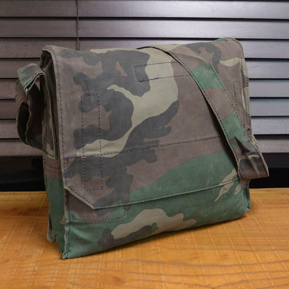 クロアチア軍放出品 ショルダーバッグ コットン製 ウッドランドカモ