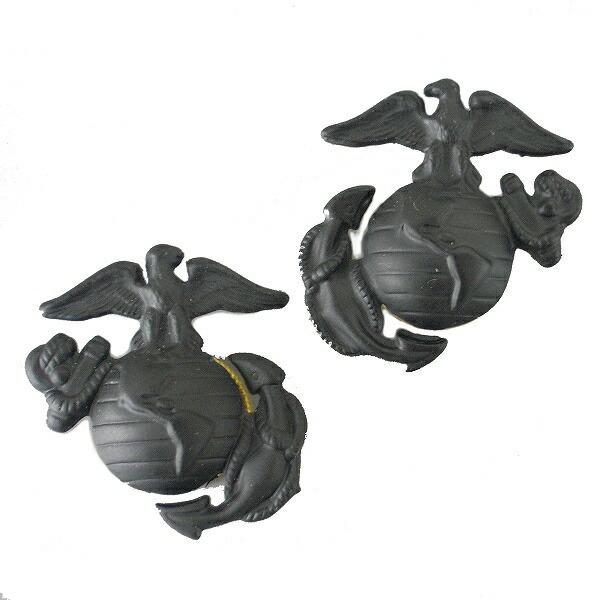 Rothco ミリタリーバッジ 海兵隊紋章 2個 1568 ネジ式 2個セット