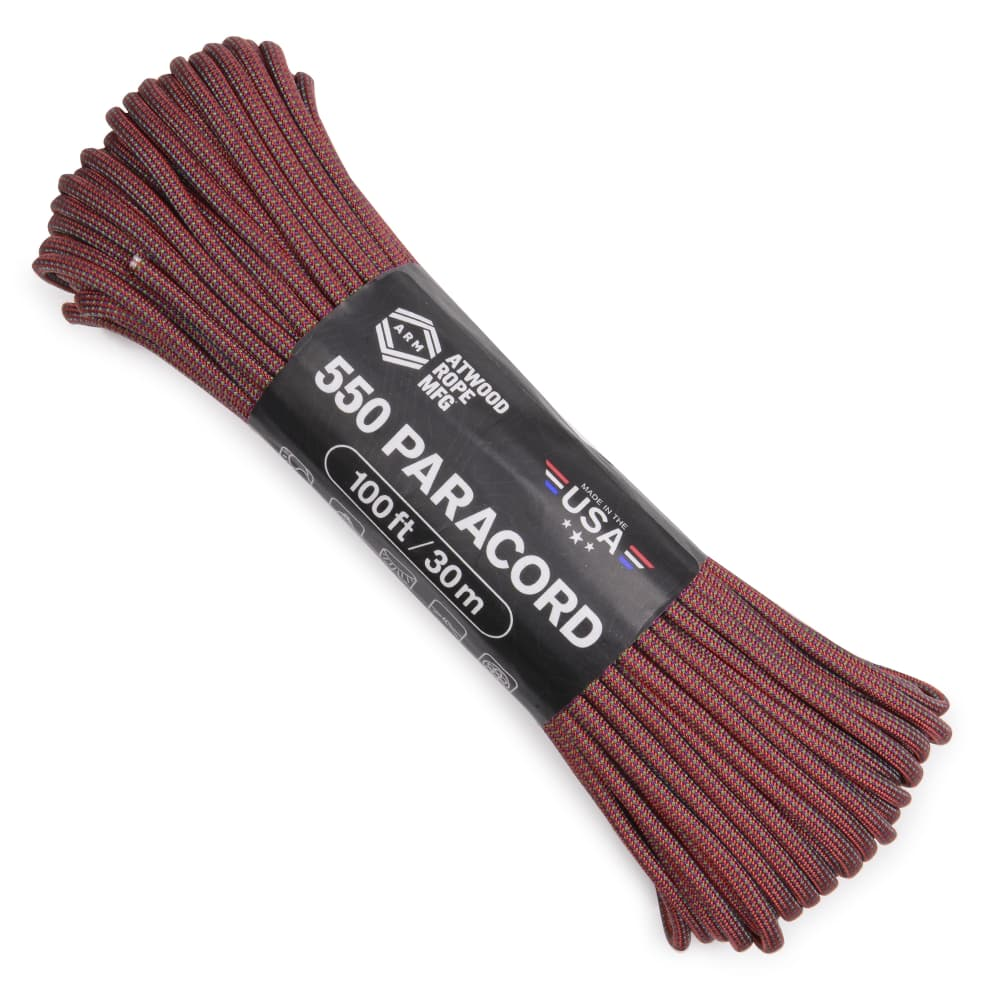 ATWOOD ROPE 550パラコード タイプ3 ドラゴンフルーツ 色変模様