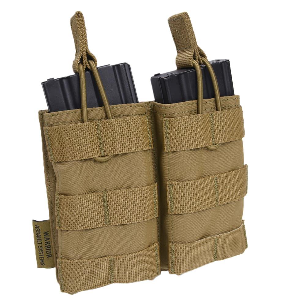 WARRIOR ASSAULT SYSTEMS 実物 ダブルマグポーチ 5.56mm弾マガジン用