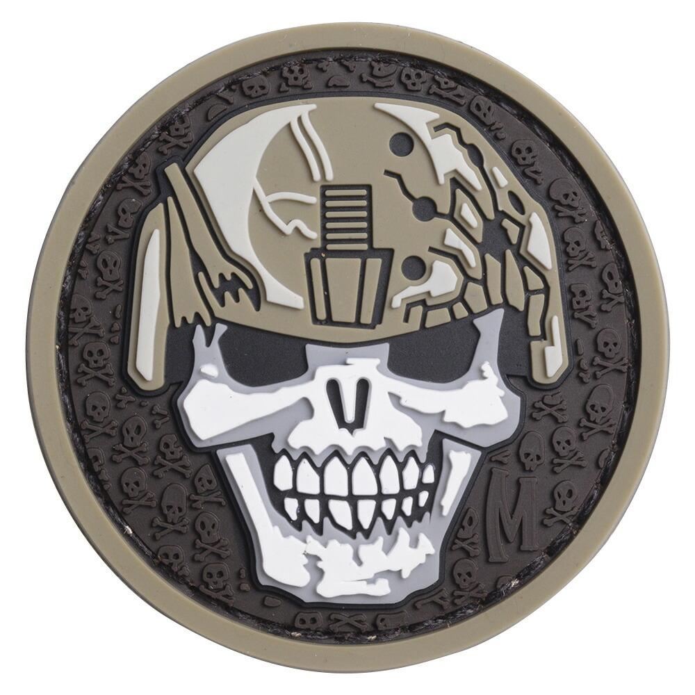 MAXPEDITION ミリタリーパッチ Soldier Skull ベルクロ