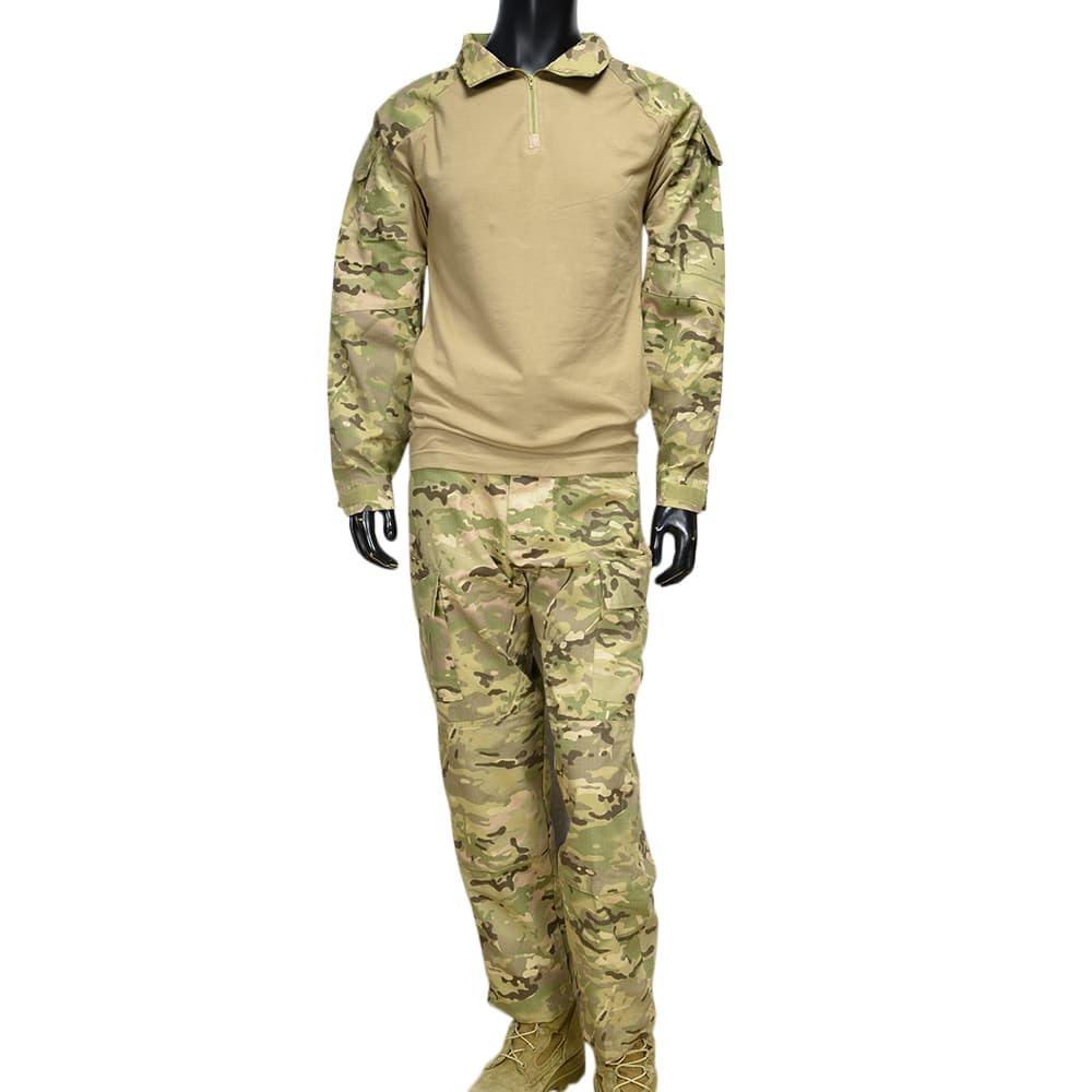 ウクライナ軍放出品 迷彩服 マルチカム BDU上下セット コンバットシャツ リップストップ生地