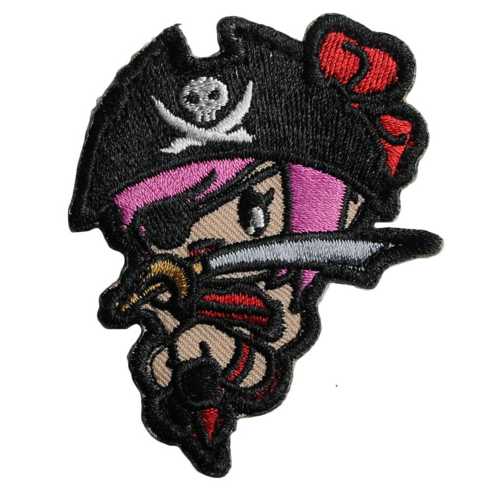 MIL-SPEC MONKEY ミリタリーパッチ Pirate Girl ベルクロ