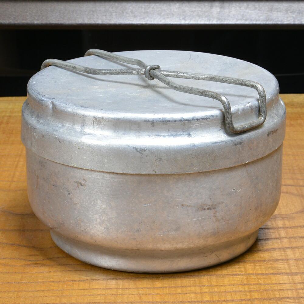 チェコ軍放出品 メスキット 飯盒 アルミ製 丸型 2ピース