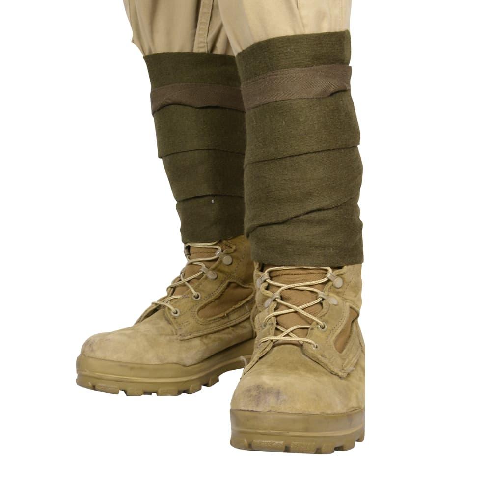 ベルギー軍放出品 ゲートル 巻脚絆 ウール製