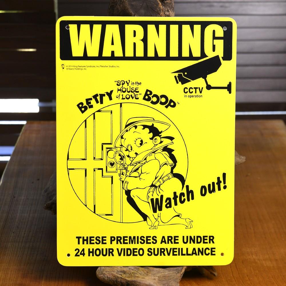 サインボード BETTY BOOP 24時間監視中