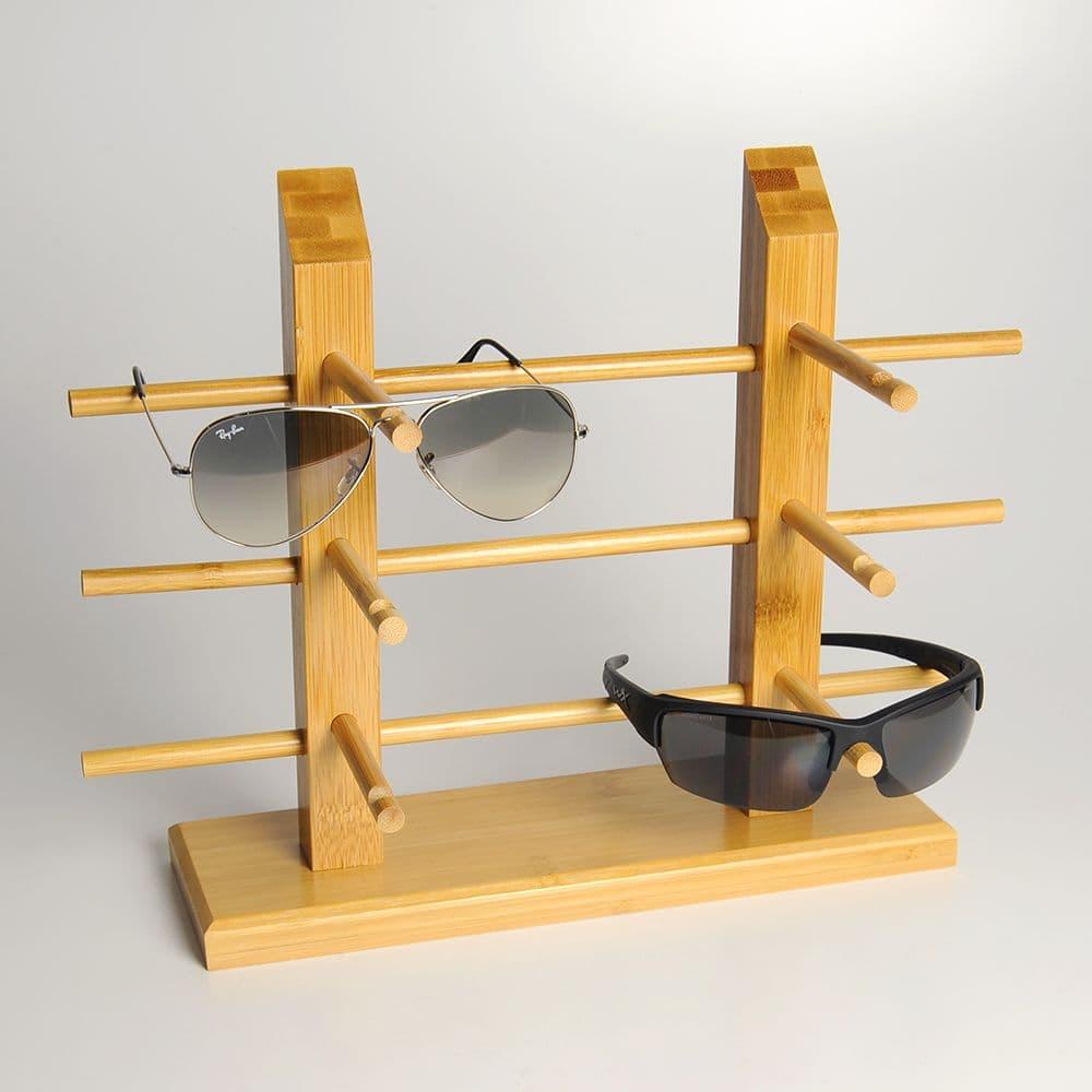 サングラススタンド 竹集成材 2柱 ディスプレイスタンド 店舗用品