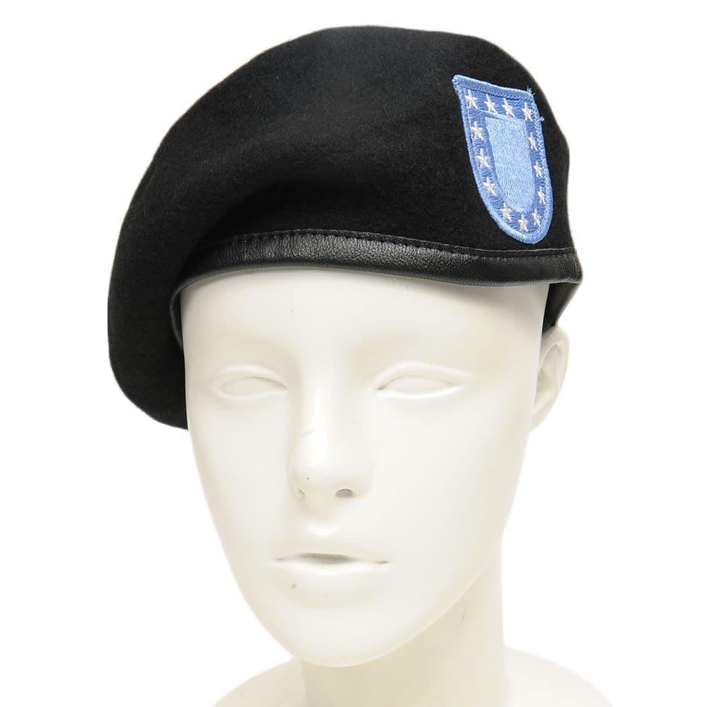Rothco ベレー帽 ブルーフラッシュワッペン付き GIスタイル