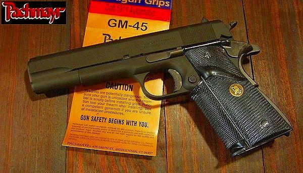 Pachmayr handgun grips GM-45C Colt 1911 for rubber rubberband gun grip Govt    COLT custom parts custom grips
