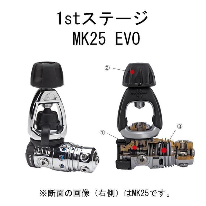 SCUBAPRO スキューバプロ レギュレータ MK25 EVO/G260 BLACK TECH