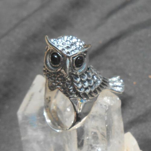 5 x Tibetan Silver 3d Owl Pendant Charms Bird Solid