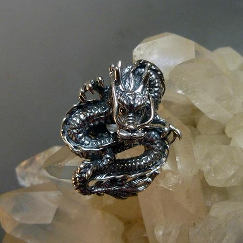 ドラゴン、龍、リング、指輪、ジュエリー